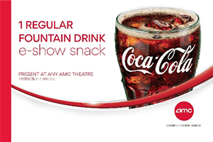 AMC: 1 Regular Fountain Drink Ticket