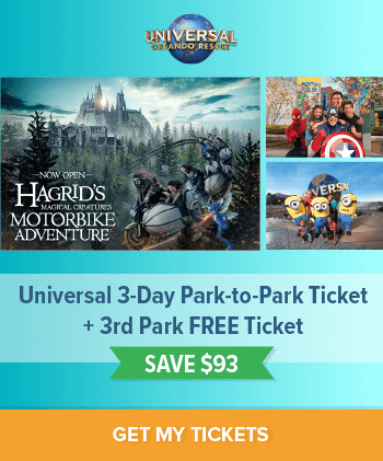 Save $93 on a Universal 3-Day Park-to-Park Ticket + 3rd Park FREE!
