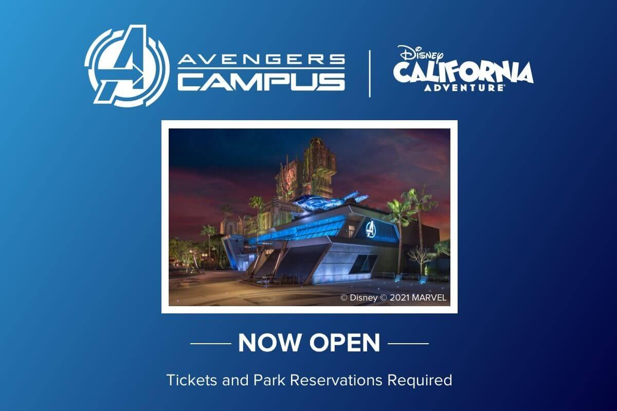 Avengers Campus Now Open!