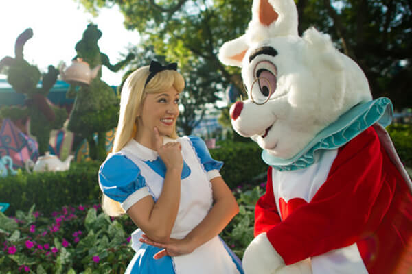 Alice in Wonderland at the Mad Tea Party