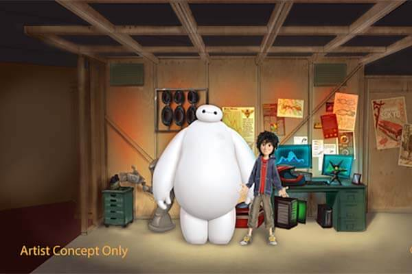 Baymax at Hiro's Workshop
