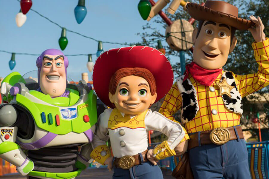 The Toys in Toy Story Land