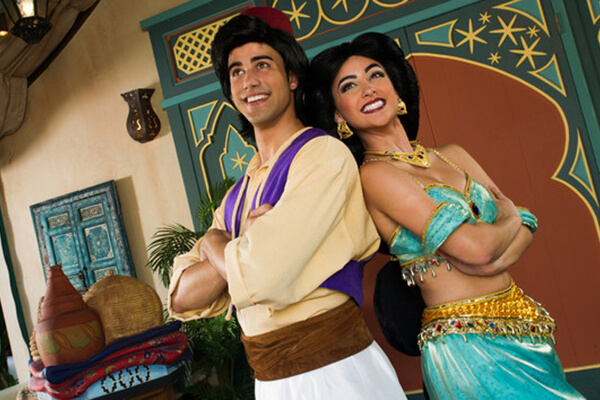 Characters from Aladdin in Adventureland