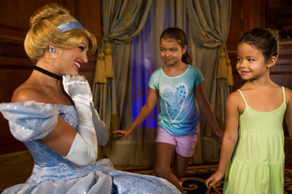 Cinderella and Elena at Princess Fairytale Hall