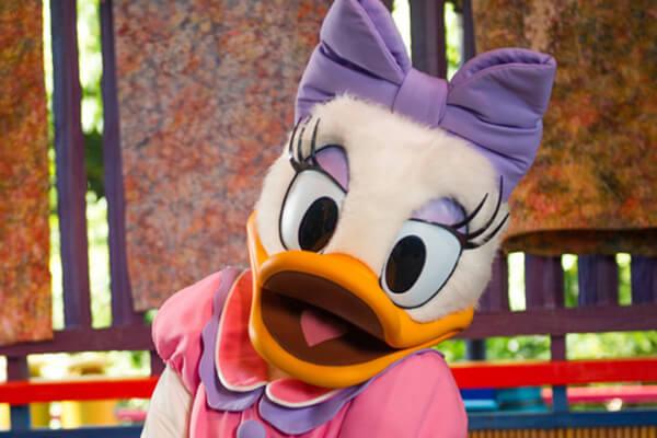 Daisy Duck near Showcase Plaza