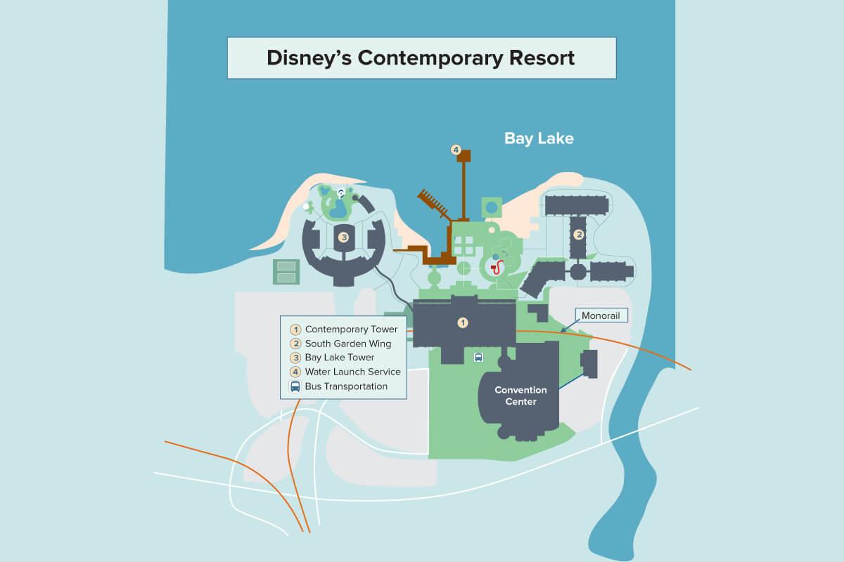 Disney S Contemporary Resort Walt Disney World Undercover Tourist