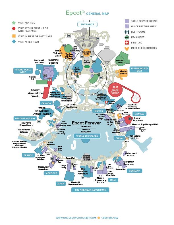 EPCOT® Map