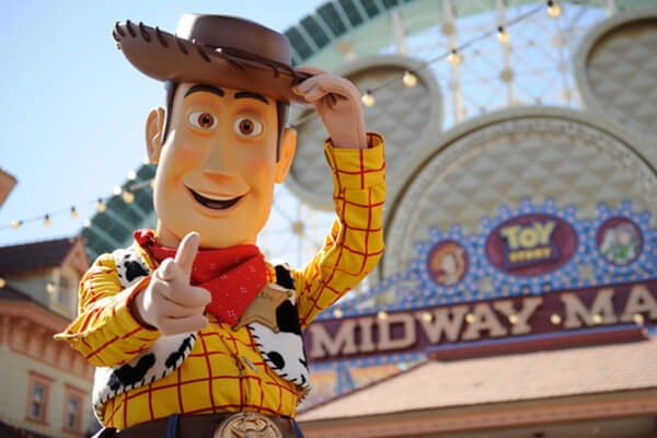 Friends from Toy Story at Paradise Pier