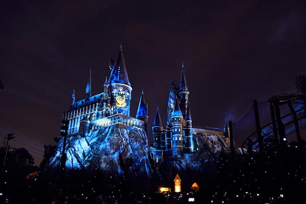 The Nighttime Lights at Hogwarts™ Castle