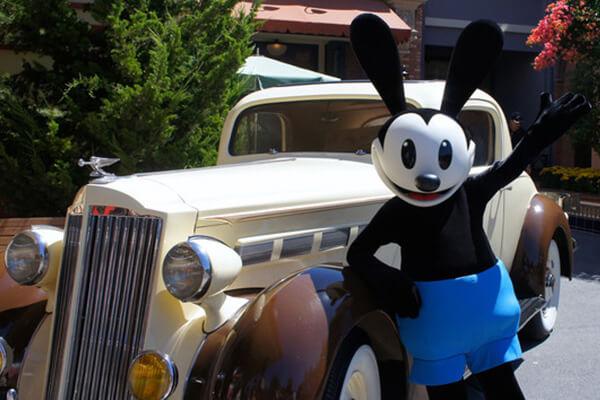 Oswald the Lucky Rabbit on Buena Vista Street