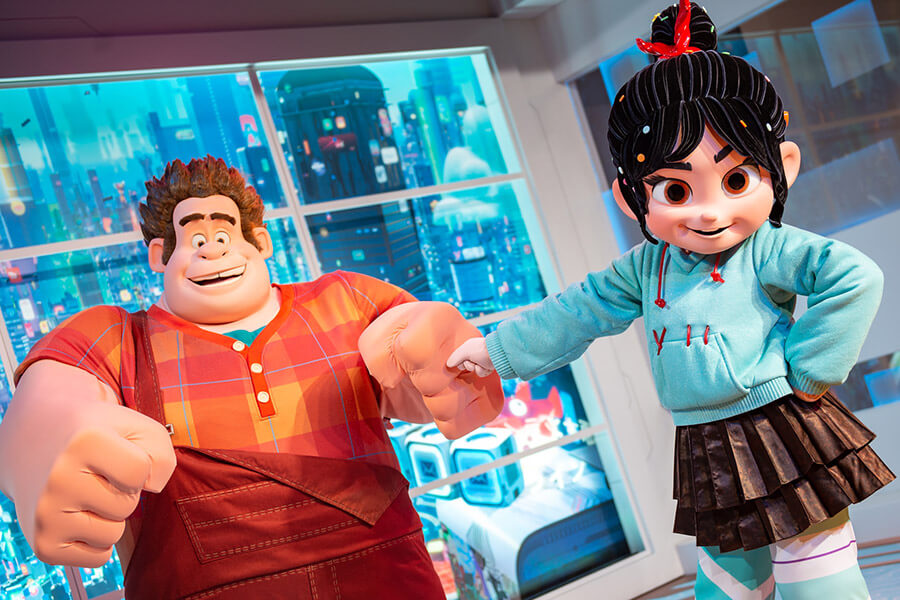 Ralph and Vanellope Inside ImageWorks