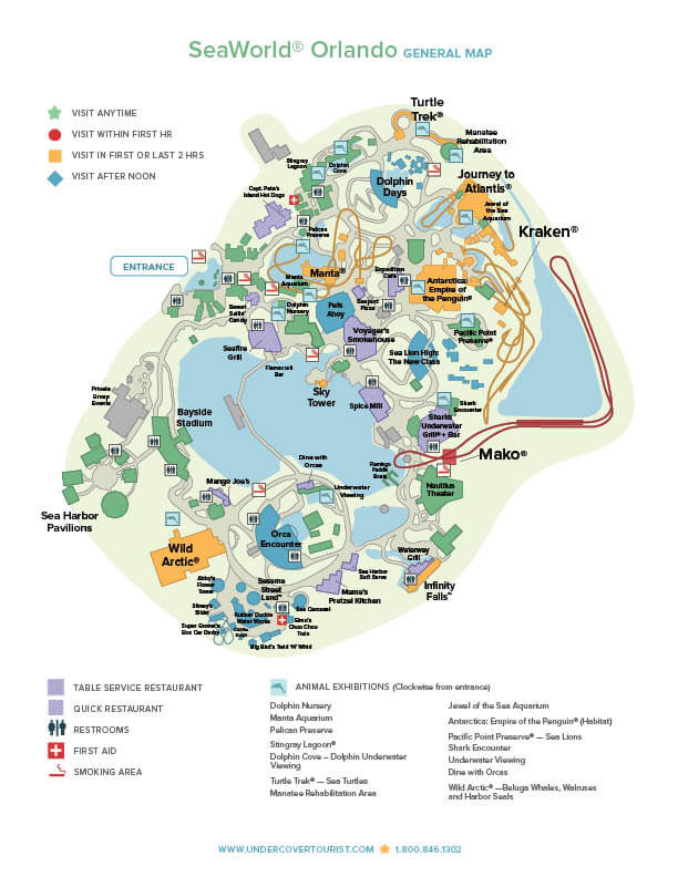 SeaWorld® Orlando Map