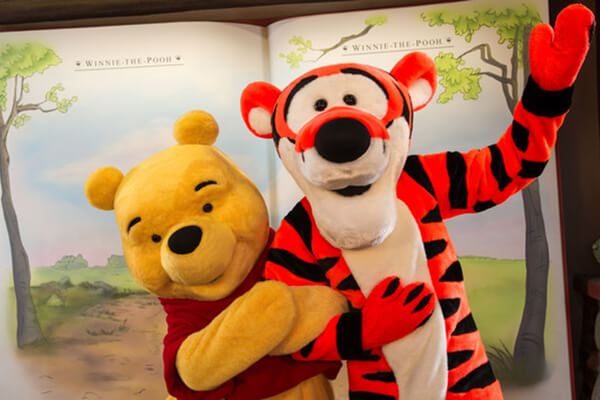 Winnie the Pooh and Tigger at The Thotful Spot