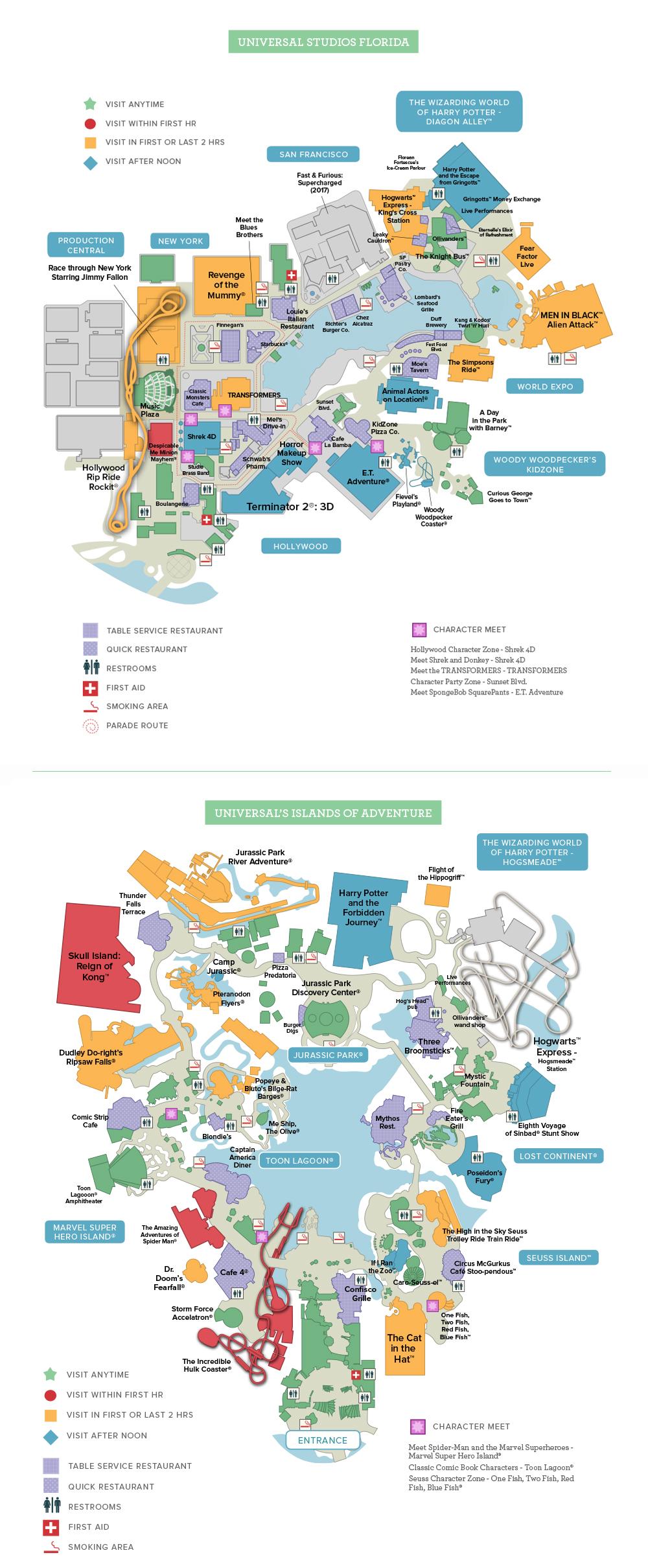 UniversalStudiosFloridaTM Map