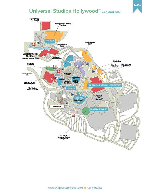 Universal Studios HollywoodTM Map