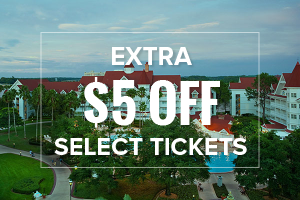 EXTRA $5 OFF Select Walt Disney World Tickets