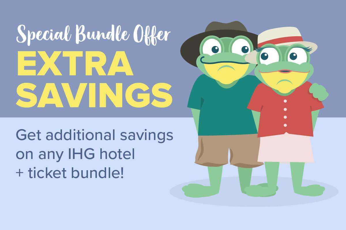 EXTRA savings on any IHG hotel + ticket bundle!