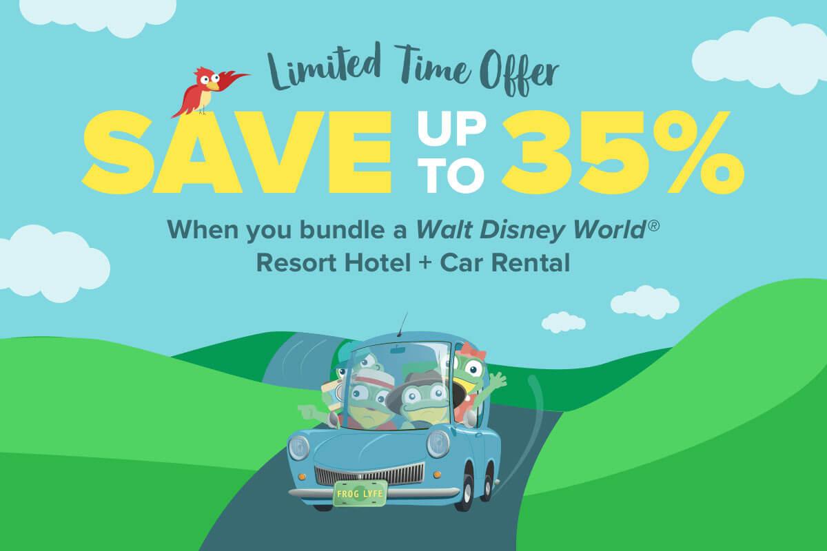 up to 35% OFF your Walt Disney World Resort order!