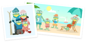 frog family images