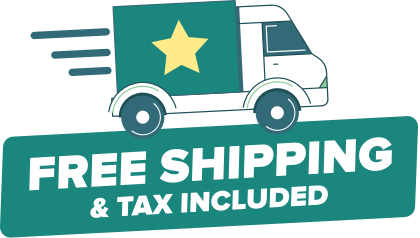 Free shipping & tax included