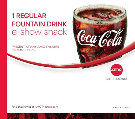 AMC: 1 Regular Fountain Drink Ticket