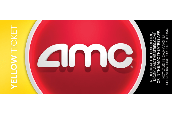 AMC: Yellow Movie Ticket