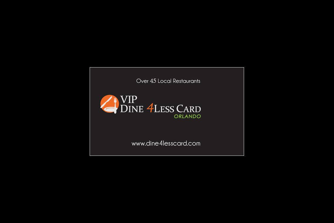 VIP Dine4Less Orlando Card