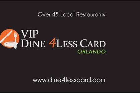 VIP Dine4Less Orlando Card