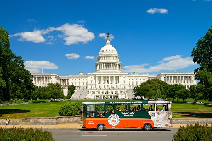 Washington DC Old Town Trolley Tour 2-Day (Platinum Pass) Ticket