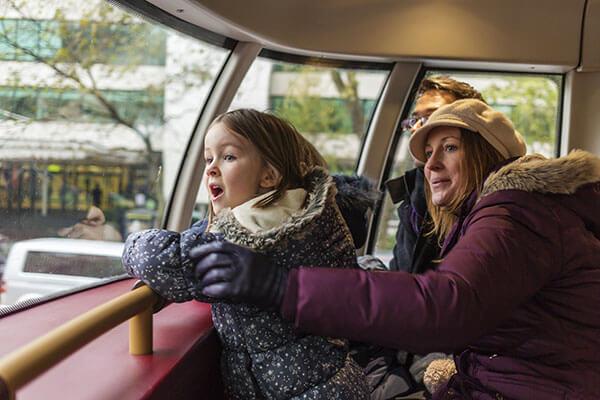 London family on tour
