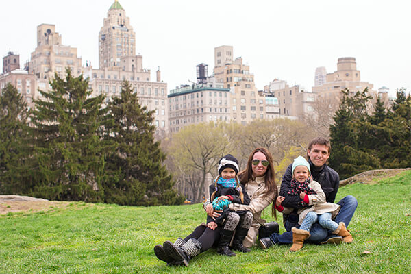 New York City family at Central Park