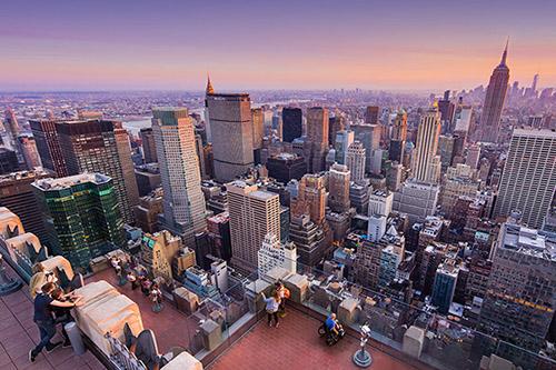 New York City Skyline View