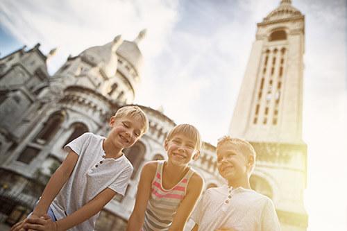Paris kids historic city