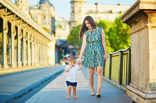 Paris sightseeing with baby